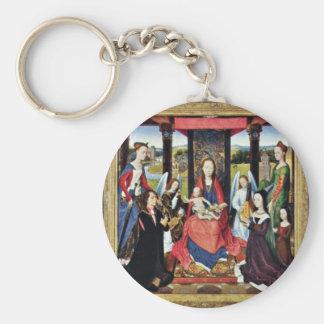 Marienaltar Sir John Donne Of Kidwelly Basic Round Button Key Ring