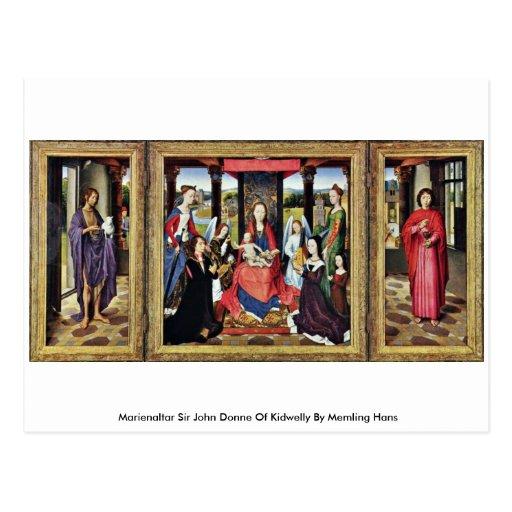 Marienaltar Sir John Donne Of Kidwelly Postcard