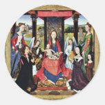 Marienaltar Sir John Donne Of Kidwelly Classic Round Sticker