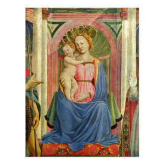 Marienaltar Szene Maria mit Kind und Heiligen D Postcard