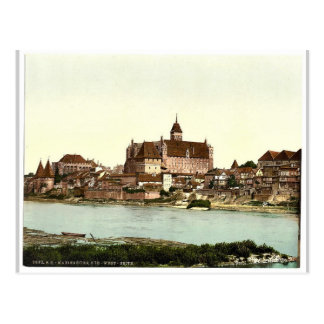 Marienburg, southwest side, Prussia, Germany (i.e. Postcard