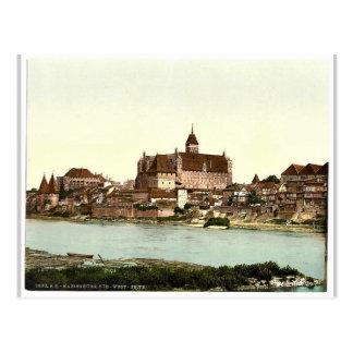 Marienburg, southwest side, Prussia, Germany (i.e. Postcard