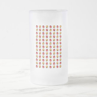 Marienkäfer Invasion Frosted Glass Beer Mug