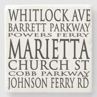 Marietta, Georgia. Streets, Coasters, Stone Coaster