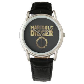 Marigold digger black gold wristwatches