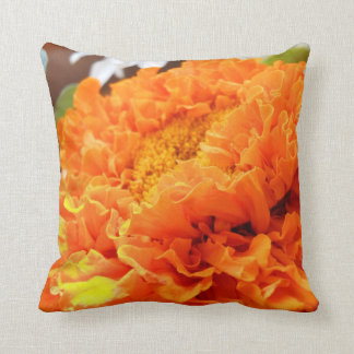 Marigold Flower Pillow Throw Cushion