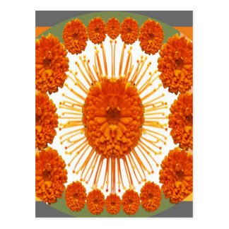 MARIGOLD Flowers - Marry Gold Postcard