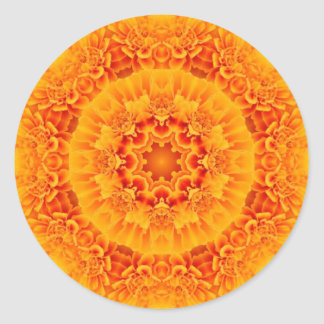 Marigold Mandala Classic Round Sticker