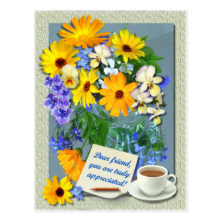 MARIGOLD POSY ~ Friendship Postcard