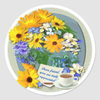MARIGOLD POSY ~ Friendship Stickers