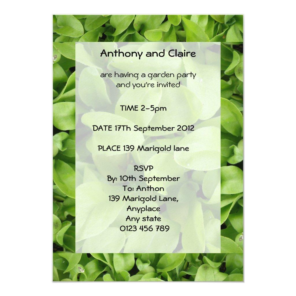 Marigold Seedlings Custom Garden Party Invites