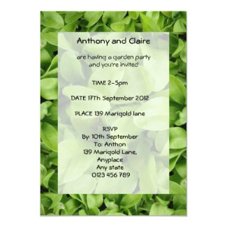 Marigold Seedlings Custom Garden Party Invites
