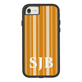 Marigold Victorian Stripe with Monogram Case-Mate Tough Extreme iPhone 8/7 Case