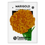 Marigold Vintage Seed Packet Greeting Card