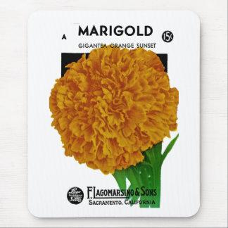 Marigold Vintage Seed Packet Mousepad