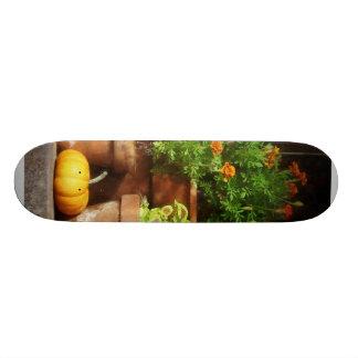 Marigolds and Pumpkins Skate Deck