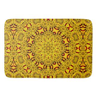 Marigolds  Kaleidoscope  Bath Mats