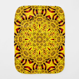 Marigolds Kaleidoscope Burp Cloth