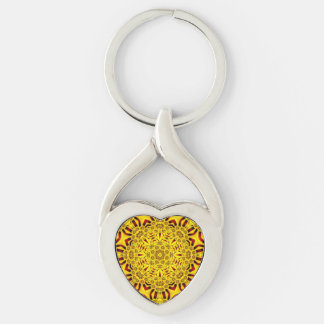 Marigolds Metal Keychains, 4 shapes Key Ring