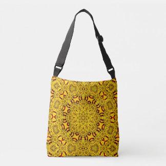 Marigolds Vintage Kaleidoscope  Cross Body Bag
