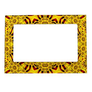 Marigolds Vintage Kaleidoscope  Magnetic Frames