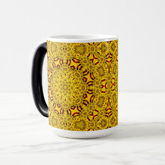 Marigolds Vintage Kaleidoscope Morphing Mug