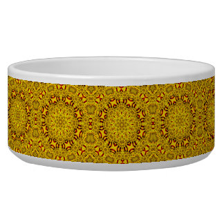 Marigolds Vintage   Kaleidoscope  Pet Dish