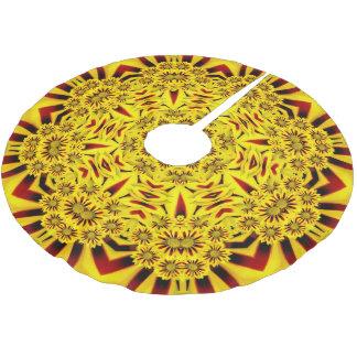 Marigolds Vintage Kaleidoscope  Tree Skirt