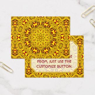Marigolds Vintage Pattern  Business Cards