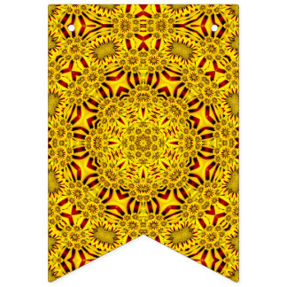 Marigolds  Yellow Vintage Kaleidoscope Flags