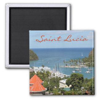 Marigot Bay Saint Lucia Square Magnet