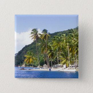 Marigot Bay, St. Lucia, Caribbean 15 Cm Square Badge