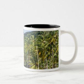 Marigot Bay, St. Lucia, Caribbean Two-Tone Coffee Mug
