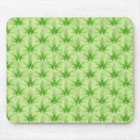 Marijuana Leaf Pattern Mouse Mat