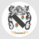 Marik Coat of Arms (Family Crest) Round Stickers