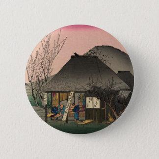 Mariko, 53 stations of the Tokaido Road, Hiroshige 6 Cm Round Badge