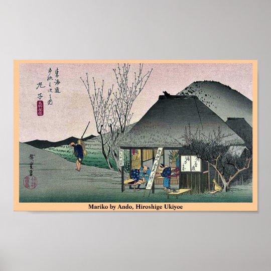 Mariko by Ando, Hiroshige Ukiyoe Poster