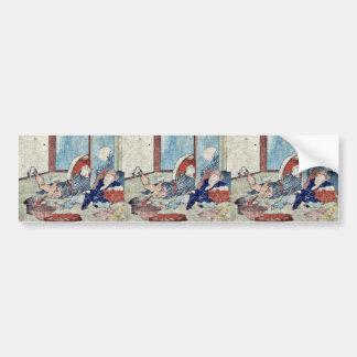 Mariko by Katsushika, Hokusai Ukiyoe Bumper Stickers