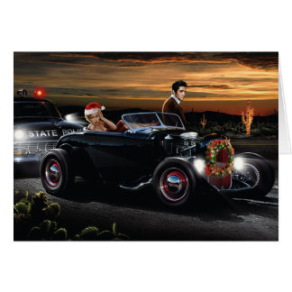 Marilyn and Elvis Christmas Joy Ride Card