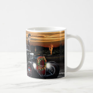 Marilyn and Elvis Christmas Joy Ride Coffee Mug