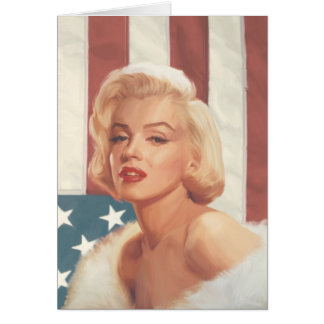 Marilyn Flag Card
