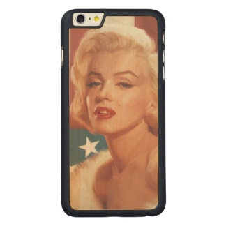 Marilyn Flag Carved Maple iPhone 6 Plus Case