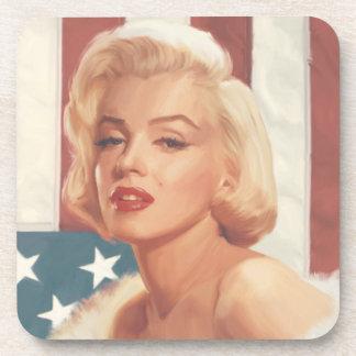 Marilyn Flag Drink Coaster