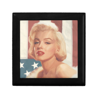 Marilyn Flag Small Square Gift Box