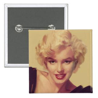 Marilyn in Black 15 Cm Square Badge