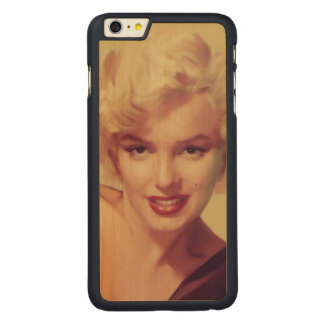 Marilyn in Black Carved Maple iPhone 6 Plus Case