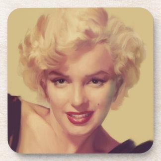 Marilyn in Black Coasters