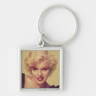 Marilyn in Black Key Ring