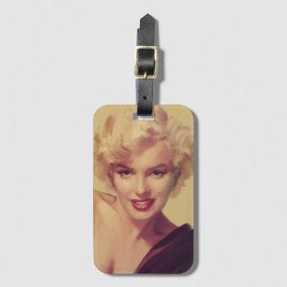 Marilyn in Black Luggage Tag