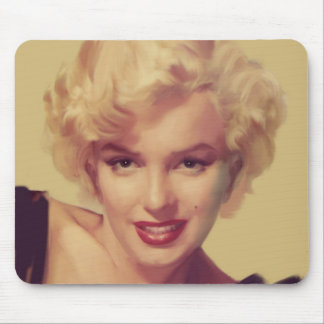 Marilyn in Black Mouse Mat